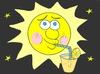 Cartoon: temperature (small) by yasar kemal turan tagged temperature,sun,fruit,juice