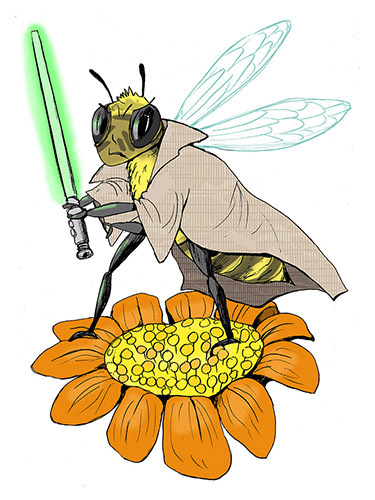 Cartoon: bee warrior (medium) by dodotes tagged insects