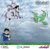 Cartoon: Saudi soccer team and the Thai E (small) by adwan tagged saudi soccer team and the thai elephant