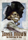 Cartoon: James Brown by Jeff Stahl (small) by Jeff Stahl tagged james,brown,soul,music,singer,vintage,poster,illustration,caricature,jeff,stahl