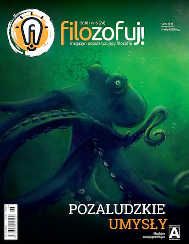 Cartoon: Krake - front cover of filozfuj! (medium) by alesza tagged krake,front,cover,magazine,animal,digital,painting,illustration