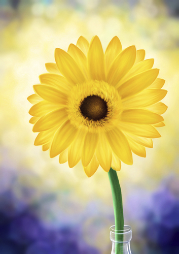 Cartoon: Sunflower (medium) by alesza tagged painting,art,digital,sunflower,sonnenblume