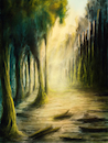 Cartoon: Forgotten World (small) by alesza tagged forgotten,world,digital,painting,illustration,art,artwork,landscape,nature,fantasy,conceptart