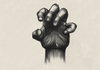Cartoon: Study (small) by alesza tagged study,hand,hands,digital,art,work,painting,drawing,black