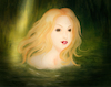 Cartoon: Untitled (small) by alesza tagged girl,digital,painting,illustration,drawing,swim,human,bath,water,environment,nature