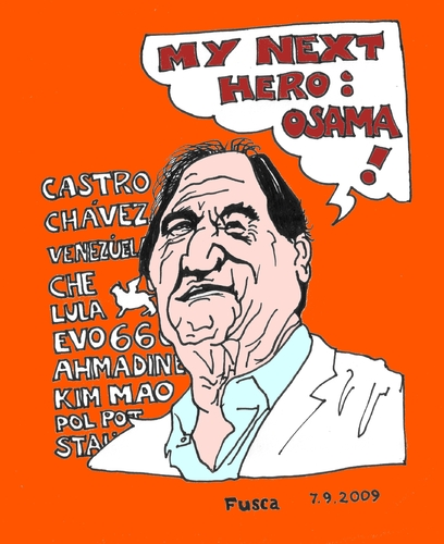 Cartoon: Oliver Bolivar Stone (medium) by Fusca tagged dictators,emerging,american,south