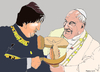 Cartoon: Bolivarian Pope (small) by Fusca tagged pope,bolivarian,dictatorships,america,cuba,bolivia,argentina,brazil,venezuela