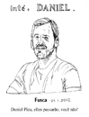 Cartoon: Daniel Piza 41 years old (small) by Fusca tagged culture,independent,journalism,literature,loss