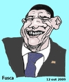 Cartoon: Obama (small) by Fusca tagged obama,politicians,usa,international,dictatorships,subimperialism