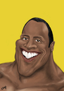 Cartoon: Dwayne The Rock Johnson (small) by lufreesz tagged dwayne,johnson,caricature,the,rock,digital,painting