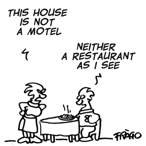 Cartoon: This house is not a motel (medium) by fragocomics tagged family,life,family,life