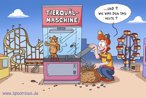 Cartoon: tierquälmaschine (medium) by ChristianP tagged tierquälmaschine