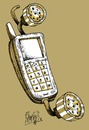 Cartoon: Phoneshower (small) by Ramses tagged phone