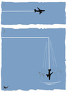 Cartoon: Flight (small) by Monica Zanet tagged zanet,fly,air