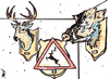 Cartoon: Hunting (small) by Monica Zanet tagged zanet free hunting