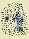 Cartoon: Pending freedom (small) by Monica Zanet tagged free,zanet,freedom