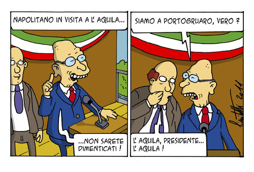 Cartoon: Vuoti di memoria (medium) by ignant tagged aquila,terremoti,cartoon,comic,strip