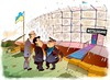 Cartoon: Notausgang (small) by medwed1 tagged ukraine,mauer,poroschenko,zaun