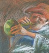 Cartoon: Music (small) by boa tagged painting color oil boa romania painter landscape