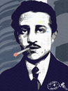Cartoon: Gavrilo Princip Superstar (small) by Zoran Spasojevic tagged collage,portrait,emailart,digital,gavrilo,princip