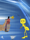 Cartoon: The Revolutionary Spray (small) by Zoran Spasojevic tagged revolutionary,spray,against,yellow,ant,zoran,spasojevic,paske,kragujevac,serbia