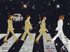 Cartoon: The Beatles crossing Abbey Road (small) by Zoran Spasojevic tagged the,beatles,crossing,abbey,road,emailart,rocknroll,digital,collage,graphics,spasojevic,zoran,paske,kragujevac,serbia