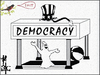 Cartoon: Democracy (small) by Zoran Spasojevic tagged democracy,unclesam,digital,collage,graphics,zoran,spasojevic,paske,emailart,kragujevac,america,serbia
