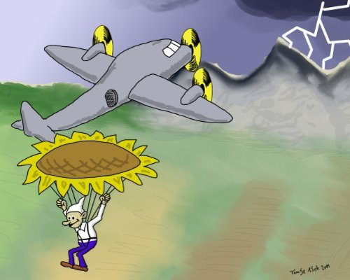 Cartoon: Absprung (medium) by TomSe tagged atomausstieg,atomkraft