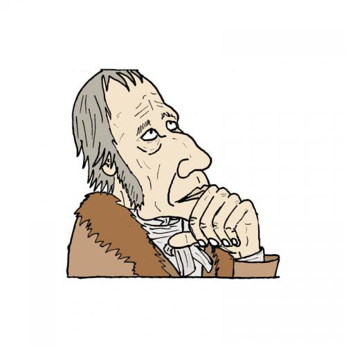 Cartoon: Georg Wilhelm Friedrich Hegel (medium) by Weltasche tagged philosophie,schopenhauer,dialektik