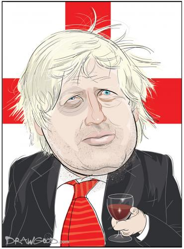 Cartoon: Boris Johnson (medium) by drawgood tagged boris,johnson,mayor,london,caricature,portrait