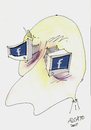 Cartoon: facebook addict (small) by ALCATO tagged zuckerbook