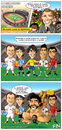 Cartoon: El mejor jugador del mundo (small) by Neokoi tagged messi xavi rooney kaka ronaldo maradona comic