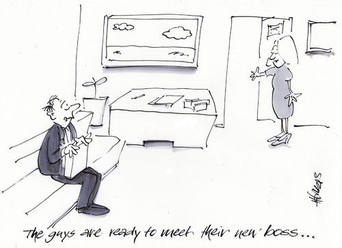 Cartoon: The New Boss (medium) by helmutk tagged business