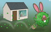 Cartoon: Easter (small) by Tjeerd Royaards tagged easter,bunny,eggs,corona,lockdown,europe,pandemic