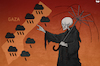 Cartoon: Gaza Weather Man (small) by Tjeerd Royaards tagged gaza,palestine,israel,violence,bombs,victims,death