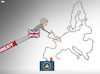 Cartoon: Long Brexit (small) by Tjeerd Royaards tagged brexit,may,theresa,uk,eu,europe,game,nervous