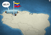Cartoon: Meanwhile in Venezuela (small) by Tjeerd Royaards tagged venezuela,south,america,economy,inflation,refugees