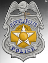 Cartoon: Minneapolis Police (small) by Tjeerd Royaards tagged usa,minneapolis,racism,police,george,floyd