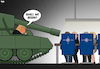 Cartoon: NATO Summit (small) by Tjeerd Royaards tagged eu,europe,usa,defense,army,budget,nato,summit,tank