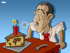 Cartoon: One-year anniversary (small) by Tjeerd Royaards tagged obama,president,year,anniversary,terror,dynamite,usa,united,states