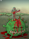 Cartoon: Second wave (small) by Tjeerd Royaards tagged corona,coronavirus,virus,pandemic,second,wave