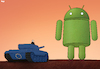 Cartoon: The Android Giant (small) by Tjeerd Royaards tagged europe,google,money,fine,android