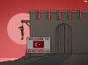 Cartoon: Welcome to Turkey (small) by Tjeerd Royaards tagged insult,turkey,erdogan,humor