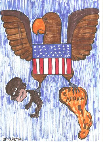 Cartoon: US (medium) by Seydi Ahmet BAYRAKTAR tagged us