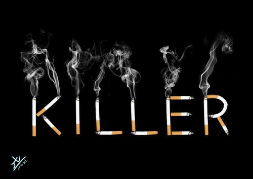 Cartoon: killer (medium) by yaserabohamed tagged killer,smoke,smoking,cigaret