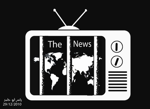 Cartoon: the news (medium) by yaserabohamed tagged opinion