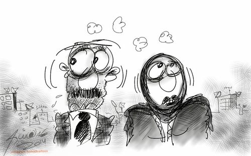 Cartoon: Sketch only (medium) by hamad al gayeb tagged sketch,only,hamadalgayeb