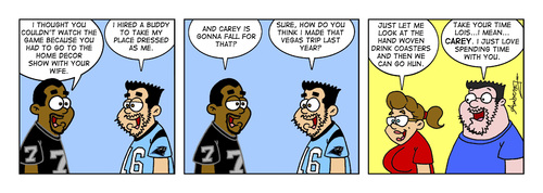 Cartoon: Football (medium) by Gopher-It Comics tagged gopherit,ambrose,hitched,married,couples,football