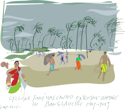 Cartoon: Cyclone in Bangladesh (medium) by gungor tagged bangladesh