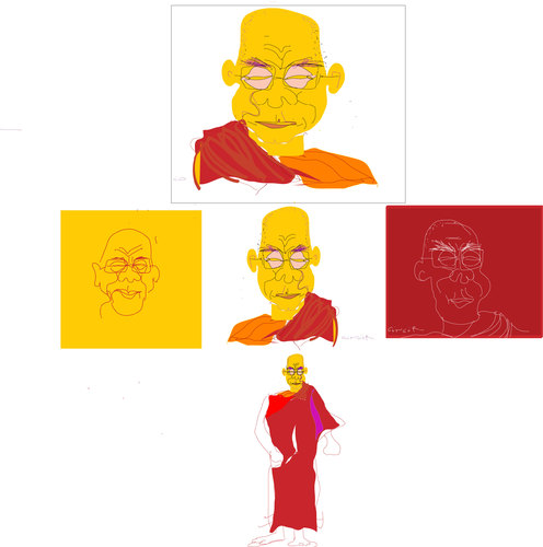 Cartoon: dalai lama (medium) by gungor tagged dala